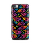 The Abstract Zig Zag Color Pattern Apple iPhone 6 Plus Otterbox Symmetry Case Skin Set