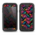 The Abstract Zig Zag Color Pattern Samsung Galaxy S4 LifeProof Nuud Case Skin Set