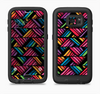 The Abstract Zig Zag Color Pattern Full Body Samsung Galaxy S6 LifeProof Fre Case Skin Kit