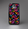 The Abstract Zig Zag Color Pattern Skin-Sert Case for the Samsung Galaxy S5