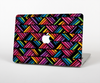 The Abstract Zig Zag Color Pattern Skin Set for the Apple MacBook Air 11""