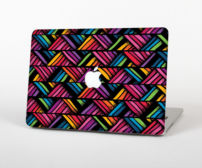 "The Abstract Zig Zag Color Pattern Skin Set for the Apple MacBook Pro 13"" with Retina Display"