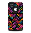 The Abstract Zig Zag Color Pattern Skin for the iPhone 4-4s OtterBox Commuter Case