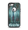 The Aged Blue Victorian Striped Wall Apple iPhone 5-5s Otterbox Defender Case Skin Set