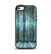 The Aged Blue Victorian Striped Wall Apple iPhone 5-5s Otterbox Symmetry Case Skin Set