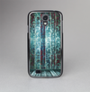 The Aged Blue Victorian Striped Wall Skin-Sert Case for the Samsung Galaxy S4