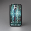 The Aged Blue Victorian Striped Wall Skin-Sert Case for the Samsung Galaxy S5