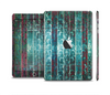The Aged Blue Victorian Striped Wall Skin Set for the Apple iPad Mini 4
