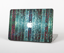 The Aged Blue Victorian Striped Wall Skin Set for the Apple MacBook Air 11""