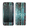 The Aged Blue Victorian Striped Wall Skin for the Apple iPhone 5c