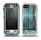 The Aged Blue Victorian Striped Wall Skin for the iPhone 5-5s OtterBox Preserver WaterProof Case