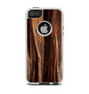 The Aged RedWood Texture Apple iPhone 5-5s Otterbox Commuter Case Skin Set