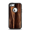 The Aged RedWood Texture Apple iPhone 5-5s Otterbox Defender Case Skin Set