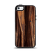 The Aged RedWood Texture Apple iPhone 5-5s Otterbox Symmetry Case Skin Set
