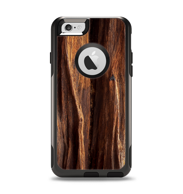 The Aged RedWood Texture Apple iPhone 6 Otterbox Commuter Case Skin Set
