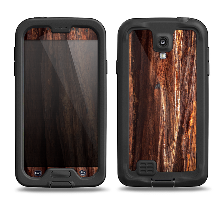 100% authentic f38d5 90806 The Aged RedWood Texture Samsung Galaxy S4 LifeProof Nuud Case Skin Set