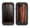 The Aged RedWood Texture Samsung Galaxy S4 LifeProof Fre Case Skin Set
