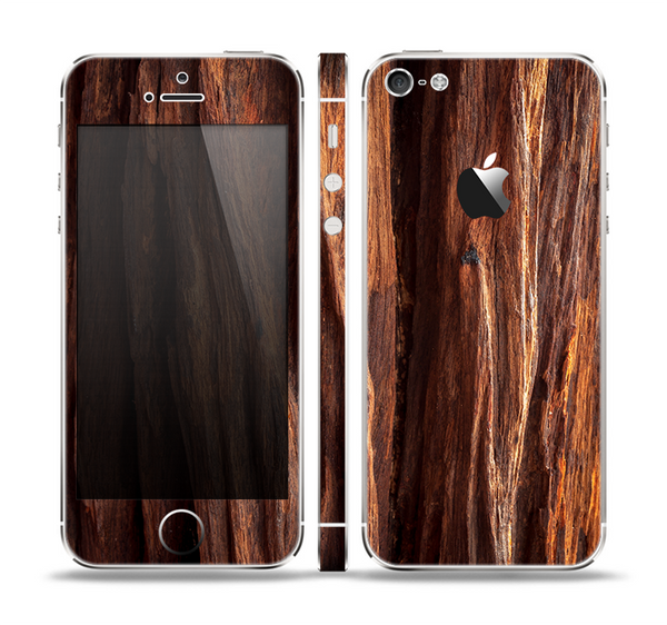 The Aged RedWood Texture Skin Set for the Apple iPhone 5