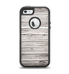 The Aged White Wood Planks Apple iPhone 5-5s Otterbox Defender Case Skin Set