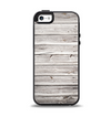 The Aged White Wood Planks Apple iPhone 5-5s Otterbox Symmetry Case Skin Set