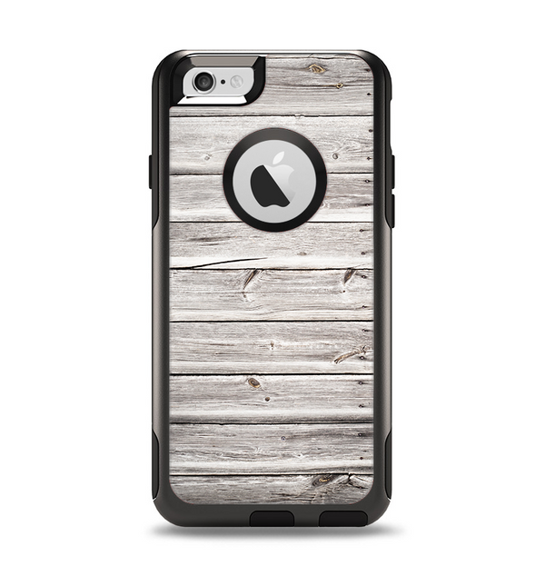 The Aged White Wood Planks Apple iPhone 6 Otterbox Commuter Case Skin Set