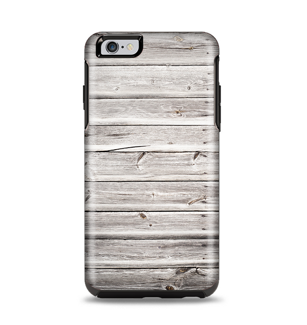 The Aged White Wood Planks Apple iPhone 6 Plus Otterbox Symmetry Case Skin Set