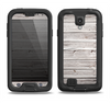 The Aged White Wood Planks Samsung Galaxy S4 LifeProof Nuud Case Skin Set