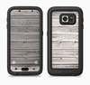 The Aged White Wood Planks Full Body Samsung Galaxy S6 LifeProof Fre Case Skin Kit
