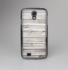 The Aged White Wood Planks Skin-Sert Case for the Samsung Galaxy S4