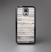 The Aged White Wood Planks Skin-Sert Case for the Samsung Galaxy S5