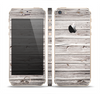The Aged White Wood Planks Skin Set for the Apple iPhone 5s