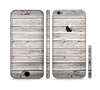 The Aged White Wood Planks Sectioned Skin Series for the Apple iPhone 6 Plus