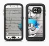 The Aged White Wood With Anchor Full Body Samsung Galaxy S6 LifeProof Fre Case Skin Kit