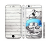 The Aged White Wood With Anchor Sectioned Skin Series for the Apple iPhone 6 Plus