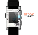 The Aged White Wood With Anchor Skin for the Pebble SmartWatch