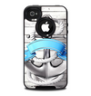 The Aged White Wood With Anchor Skin for the iPhone 4-4s OtterBox Commuter Case