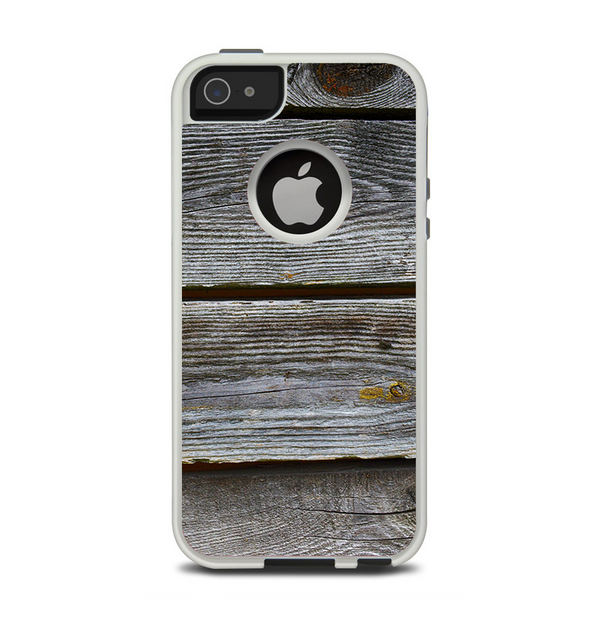 The Aged Wood Planks Apple iPhone 5-5s Otterbox Commuter Case Skin Set
