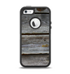 The Aged Wood Planks Apple iPhone 5-5s Otterbox Defender Case Skin Set