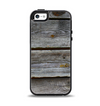 The Aged Wood Planks Apple iPhone 5-5s Otterbox Symmetry Case Skin Set