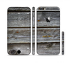 The Aged Wood Planks Sectioned Skin Series for the Apple iPhone 6