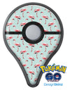 The All Over Mint Flamingo Pattern  Pokémon GO Plus Vinyl Protective Decal Skin Kit