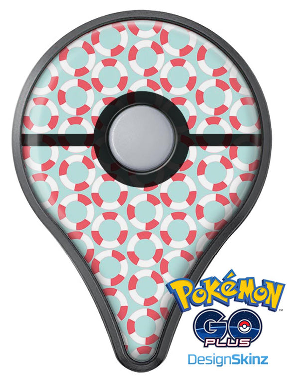 The All Over Mint Life Float Pattern Pokémon GO Plus Vinyl Protective Decal Skin Kit