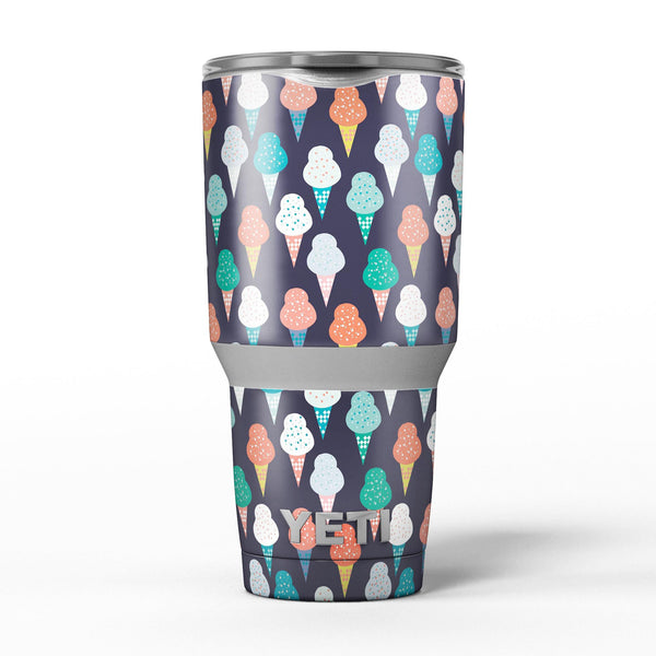 The_All_Over_Teal_and_Green_Ice_Cream_Cones_-_Yeti_Rambler_Skin_Kit_-_30oz_-_V5.jpg
