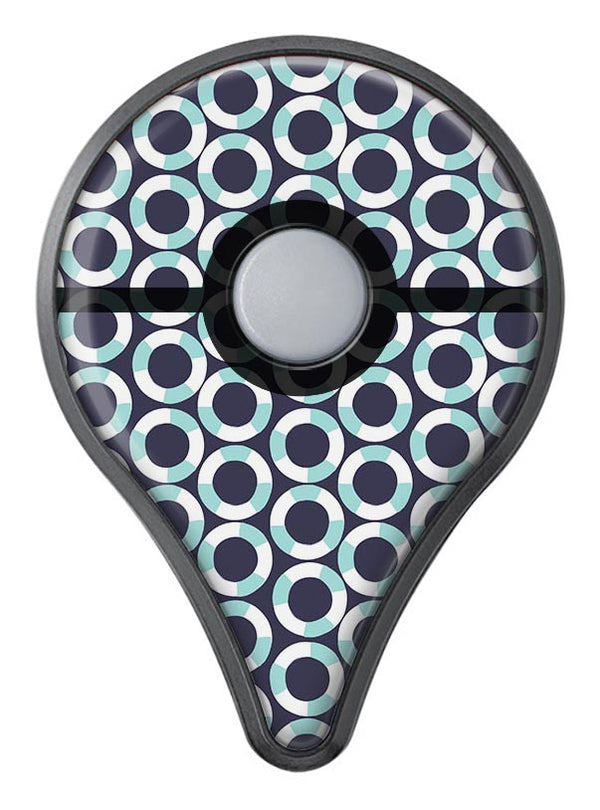 The All Over Teal and White Life Floats Pokémon GO Plus Vinyl Protective Decal Skin Kit