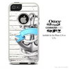 The Anchor On White Wood Skin For The iPhone 4-4s or 5-5s Otterbox Commuter Case