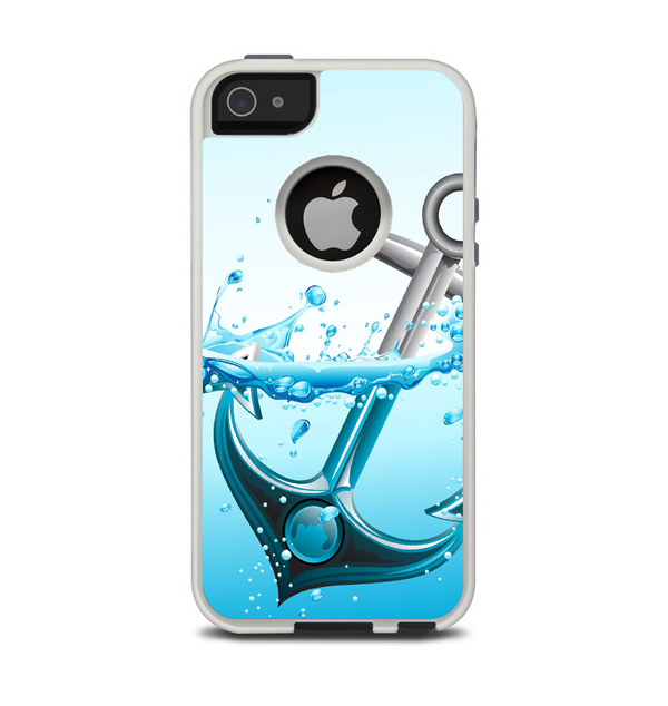 The Anchor Splashing Apple iPhone 5-5s Otterbox Commuter Case Skin Set