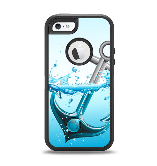 The Anchor Splashing Apple iPhone 5-5s Otterbox Defender Case Skin Set