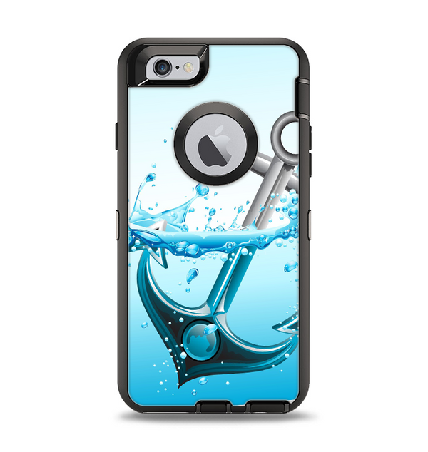 The Anchor Splashing Apple iPhone 6 Otterbox Defender Case Skin Set