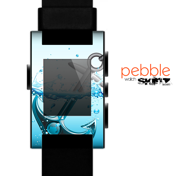 The Anchor Splashing Skin for the Pebble SmartWatch