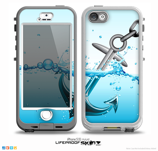 iphone 5s lifeproof nuud the anchor splashing skin for the iphone 5 5s nuud 14826